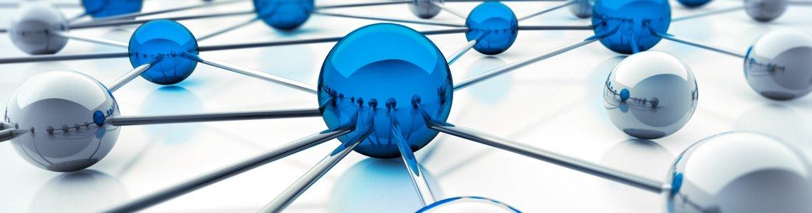réseau informatique abstrait