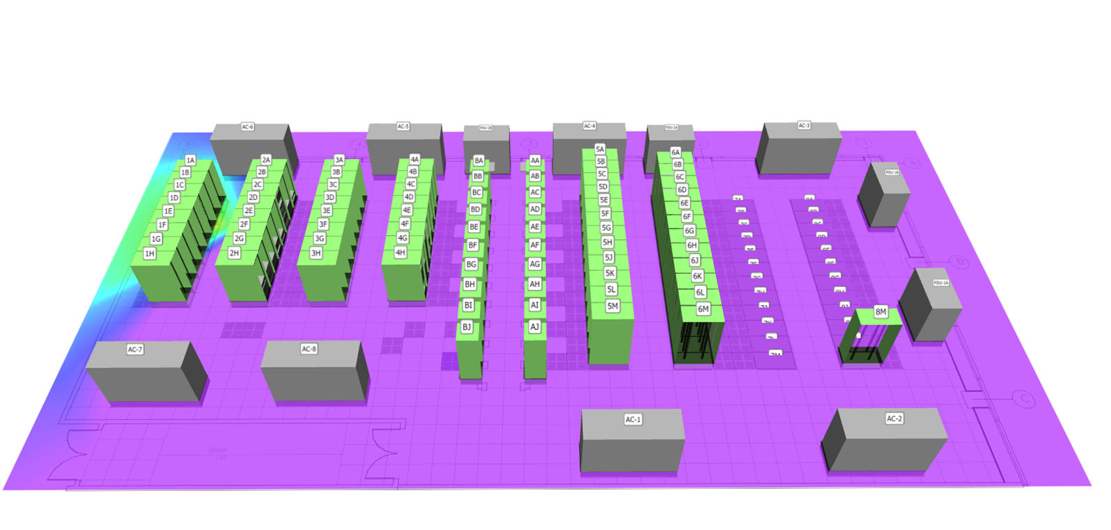 data center 3d view